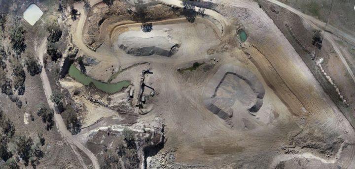Rangers Valley Quarry - aerial